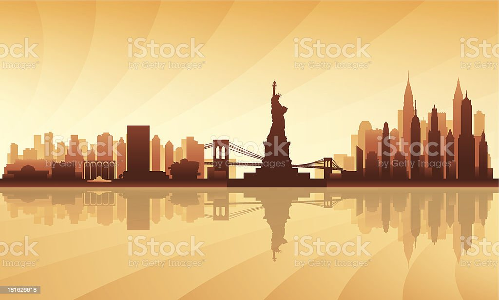 New York City skyline detailed silhouette royalty-free new york city skyline detailed silhouette stock vector art & more images of architecture