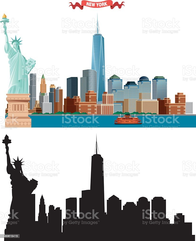 New York City skyline royalty-free new york city skyline stock vector art & more images of building exterior