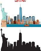 Vector New York City skyline
