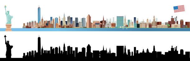 ニューヨーク市のスカイライン ベクターアートイラスト