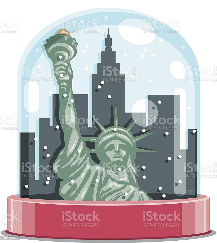 New York City Snow Globe vector art illustration
