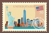 Vector New York City Stamp
