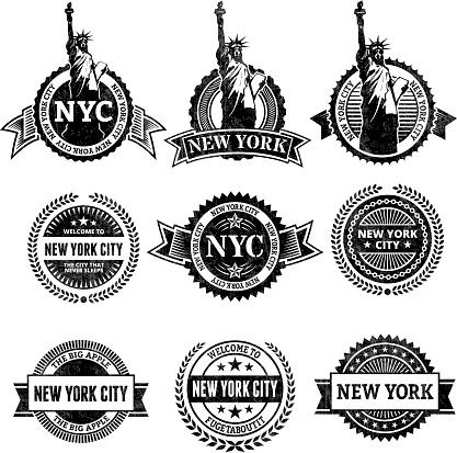 New York City Statue of Liberty icon set