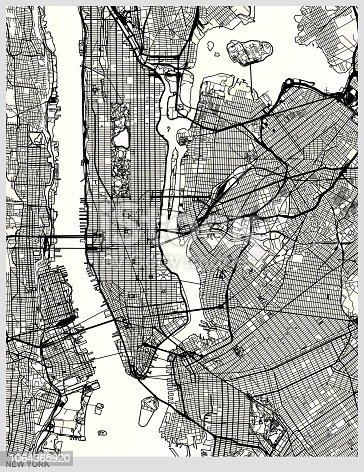 New York city structure art map