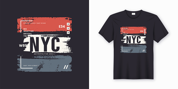 New York City stylish t-shirt and apparel abstract design