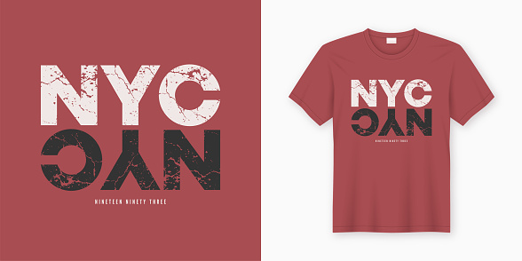 New York City stylish t-shirt and apparel design. Vector print, typography, poster.