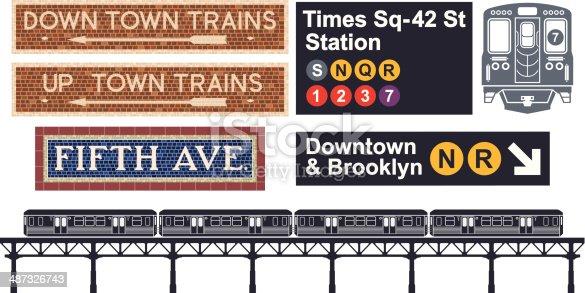 New York City transportation - Subway.