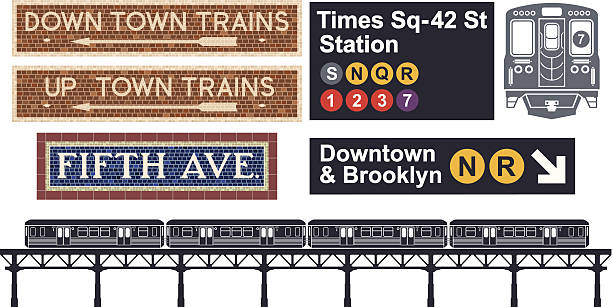 illustrations, cliparts, dessins animés et icônes de métro de new-york - métro