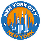 New York City Symbol vector illustration