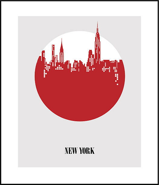 New York City - The Big Apple. Poster New York City - The Big Apple. Poster wall street stock illustrations