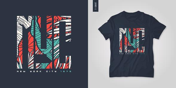 New York City. T-shirt vector design, poster, print, template