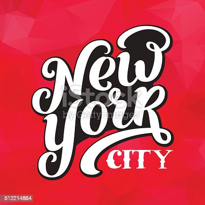 istock New York city typography brush pen design. 512214864