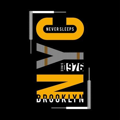 new york city typography design for t-shirt vector illustration.