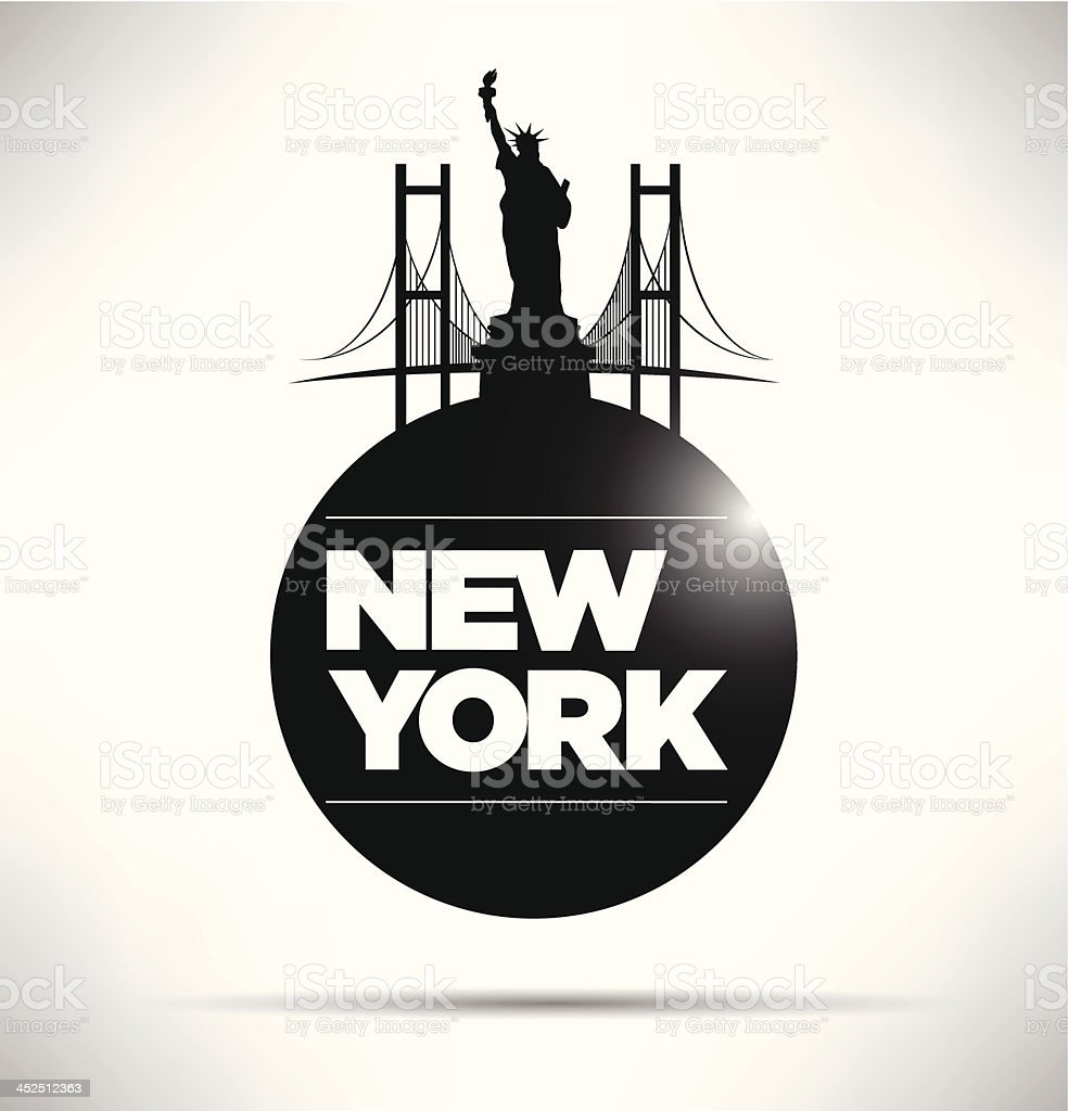 New York City Typography Design royalty-free new york city typography design stock vector art & more images of architecture