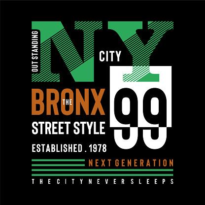 new york city urban t shirt design graphic typography, vector illustration