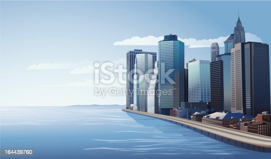 vector illustration of city skyline. Image can be scaled to any size without loss of resolution.