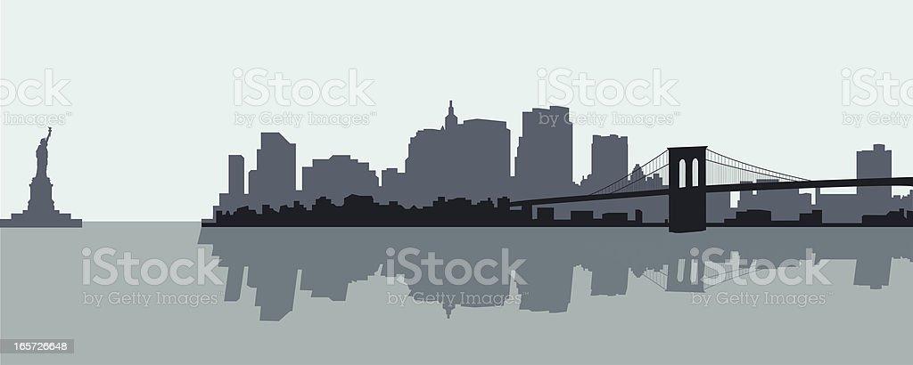 New York City vector art illustration