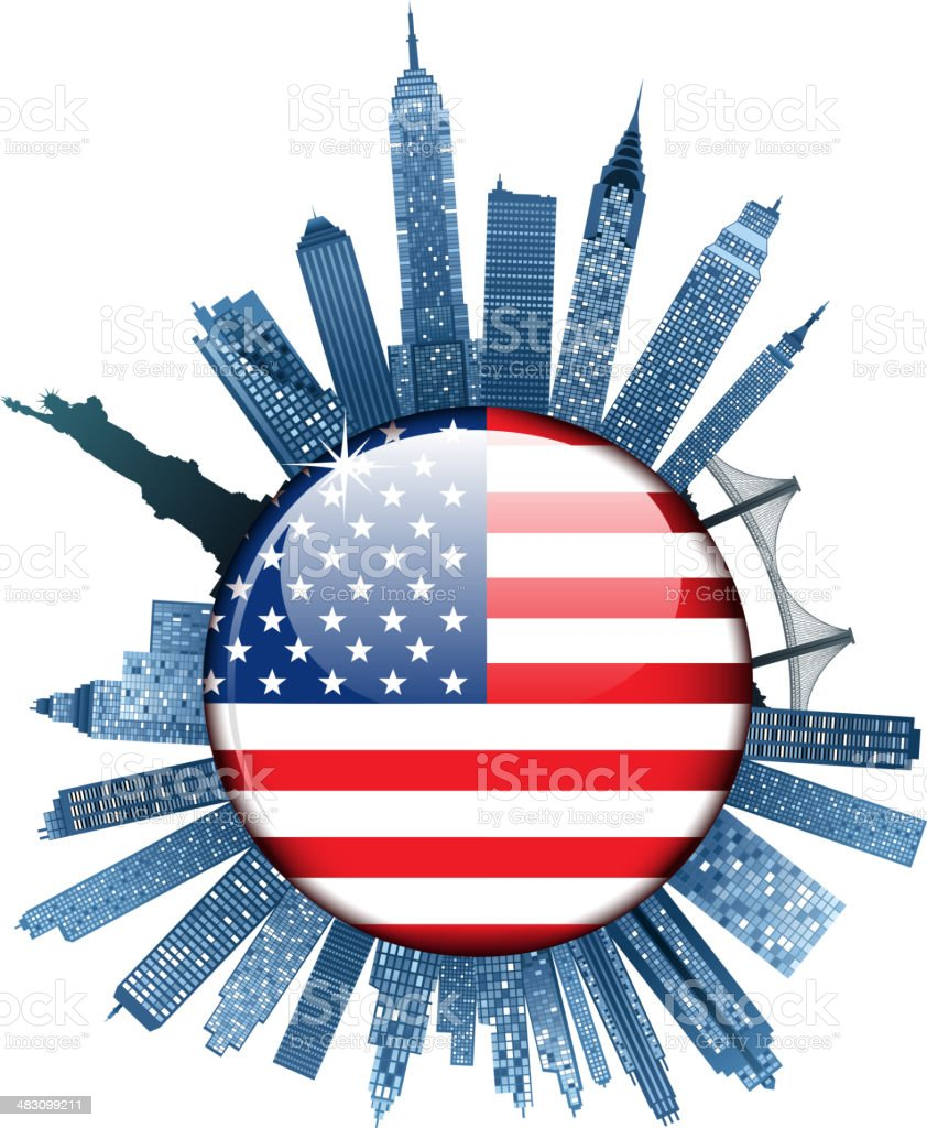 new york city royalty-free new york city stock vector art & more images of american flag