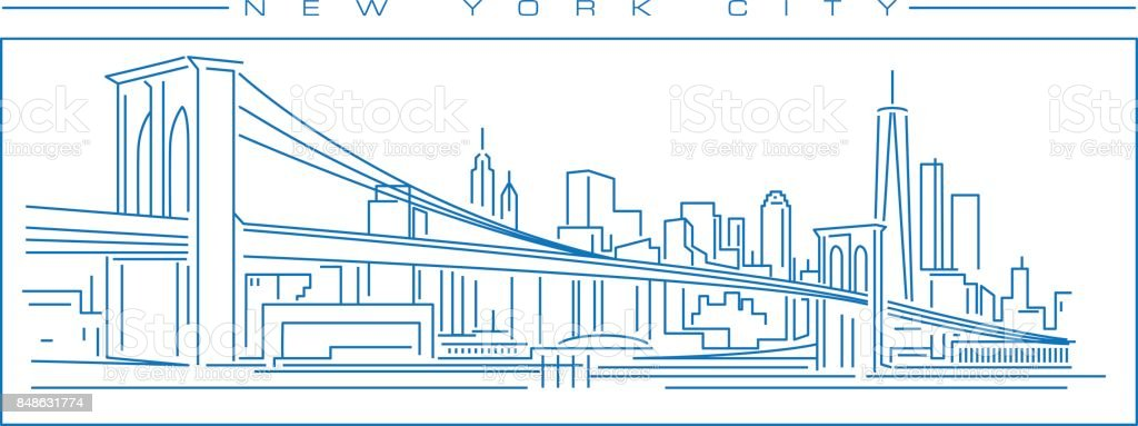 New York City vector art illustration