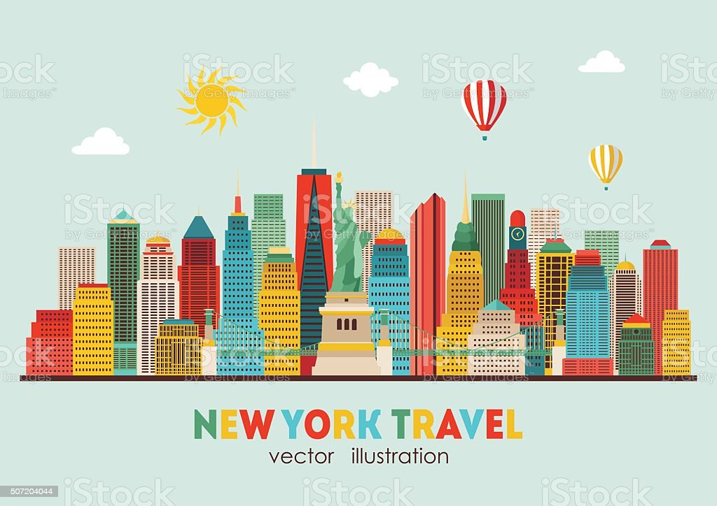 Super New York City Vector Illustration stock vector art 507204044 | iStock UU42