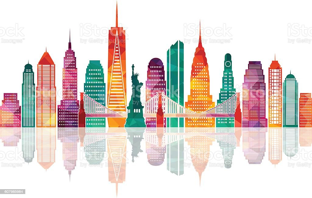 New York city. Vector illustration vector art illustration