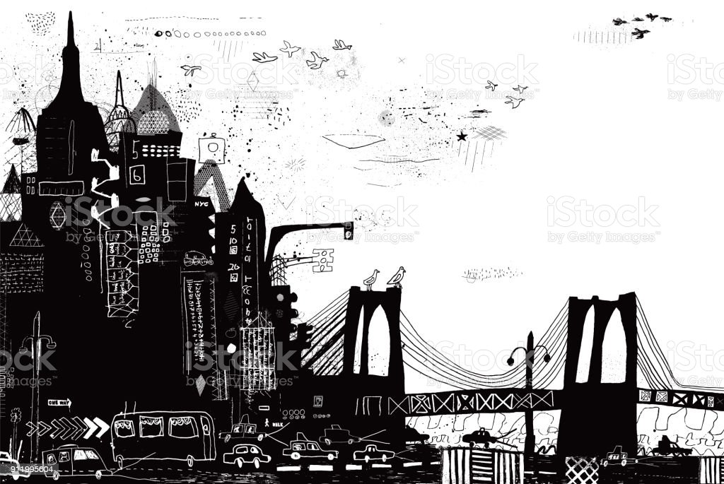 New York City vector illustration vector art illustration