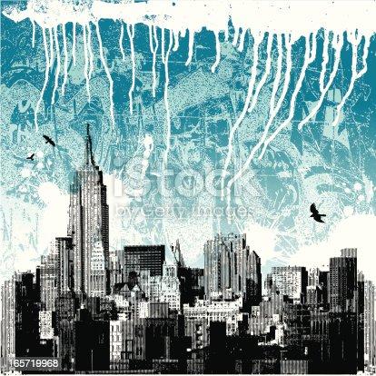 New York City Winter Grunge