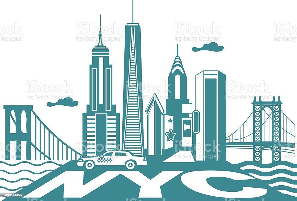 new york ciy skyline stock vector art more images of 2015