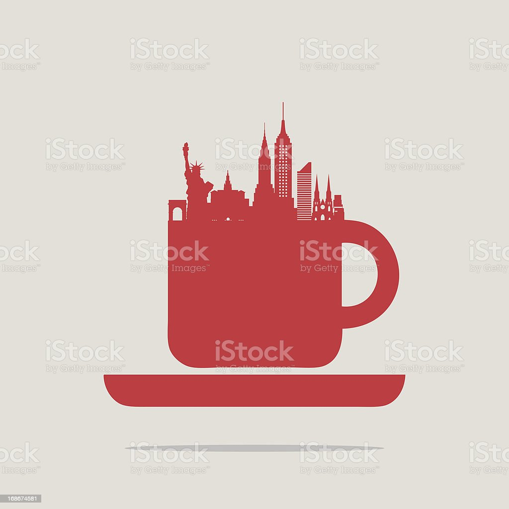 New York coffee royalty-free new york coffee stock vector art & more images of architecture