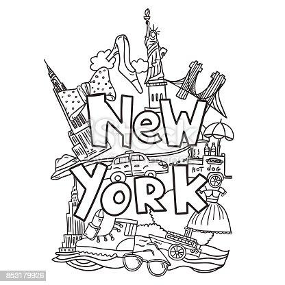 istock NYC pattern2 624128504 istock Nueva York letras oscuras ...