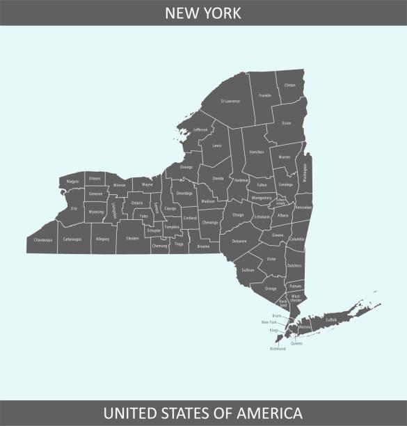 stockillustraties, clipart, cartoons en iconen met kaart new york county - nassau new providence