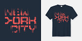 New York Cty t-shirt and apparel design, typography, print, vector illustration.