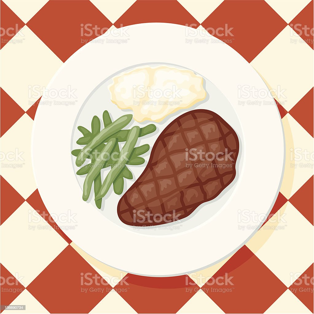New York Cut Steak vector art illustration