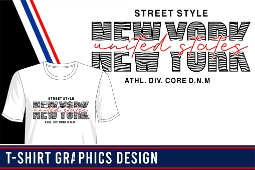 new york design for print t shirt and more
