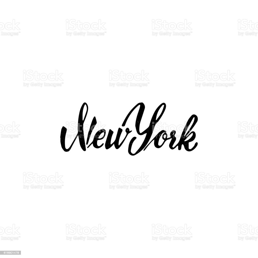 New york hand drawn calligraphy and lettering for use
