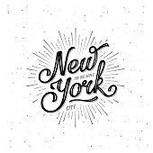 New York Lettering Big Apple