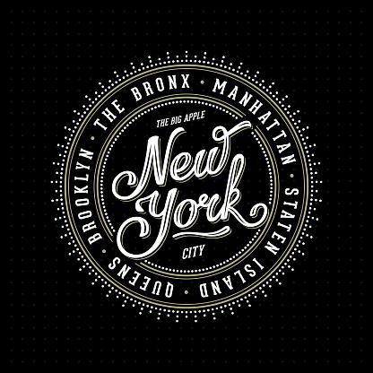 New York Lettering Stamp Black