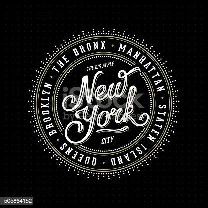 istock New York Lettering Stamp Black 505864152