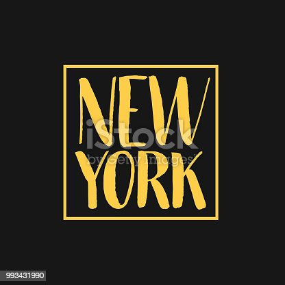 New York Hand Drawn Lettering. Vector illustration. EPS 10