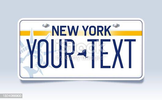 istock New York License Plate 1324086900