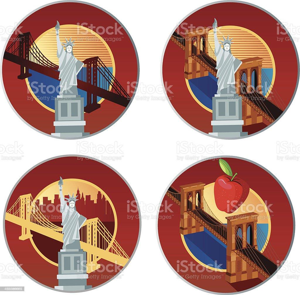 New York Logo royalty-free stock vector art