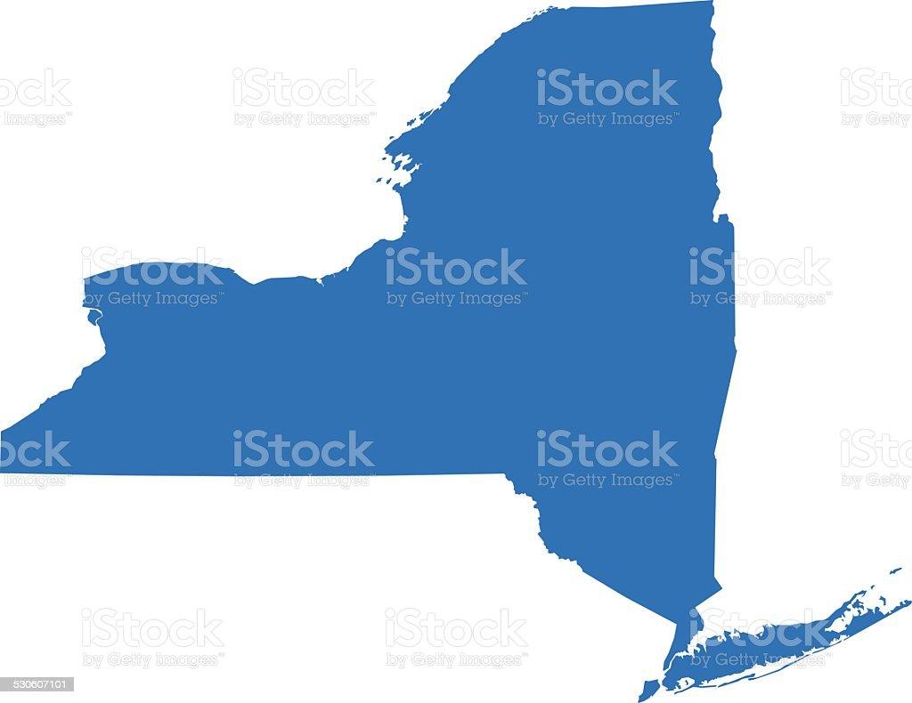 New York Map vector art illustration