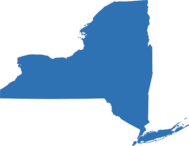 Mapa de Nova York - ilustração de arte em vetor