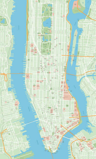 Lower East Side New York Map.Royalty Free Lower East Side Manhattan Clip Art Vector Images