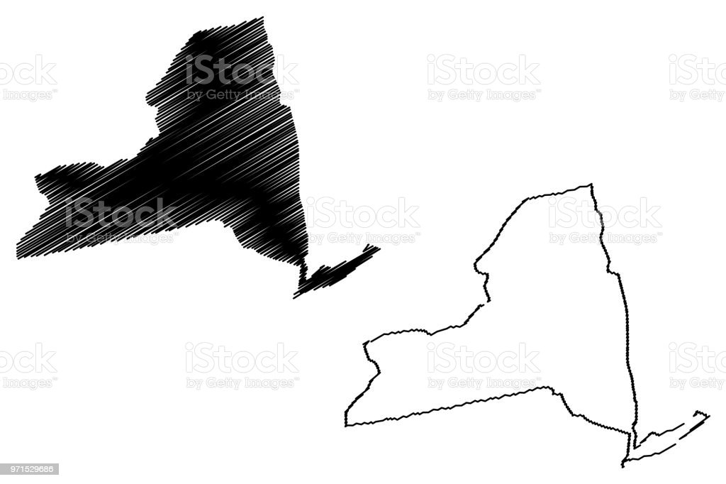 New York Map Vector Stock Vector Art More Images Of Abstract