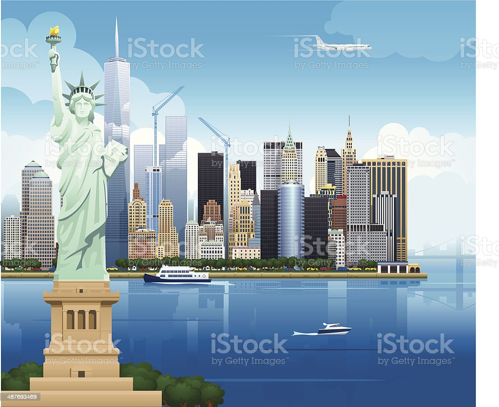 New York Skyline - Illustration royalty-free stock vector art