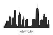 New York skyline vector illustration.