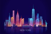 New York skyline vector illustration.