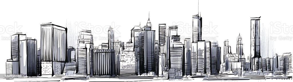 new york skyline stock vector art more images of 2015. Black Bedroom Furniture Sets. Home Design Ideas
