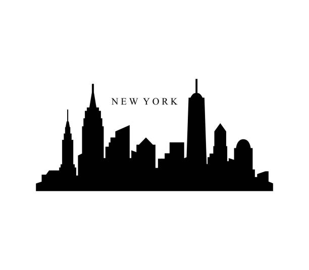 new york skyline - urban skyline stock illustrations